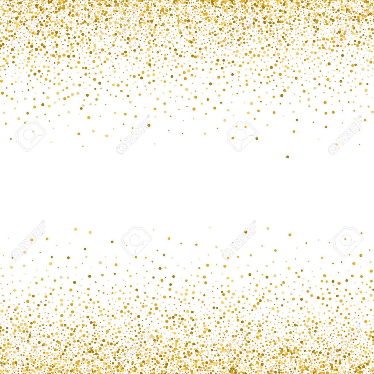 Gold glitter texture on white background Golden dots background - 169594020