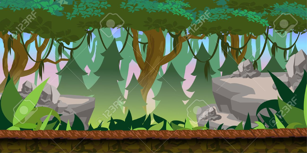 Forest Game Background for 2d game application. - 55944635