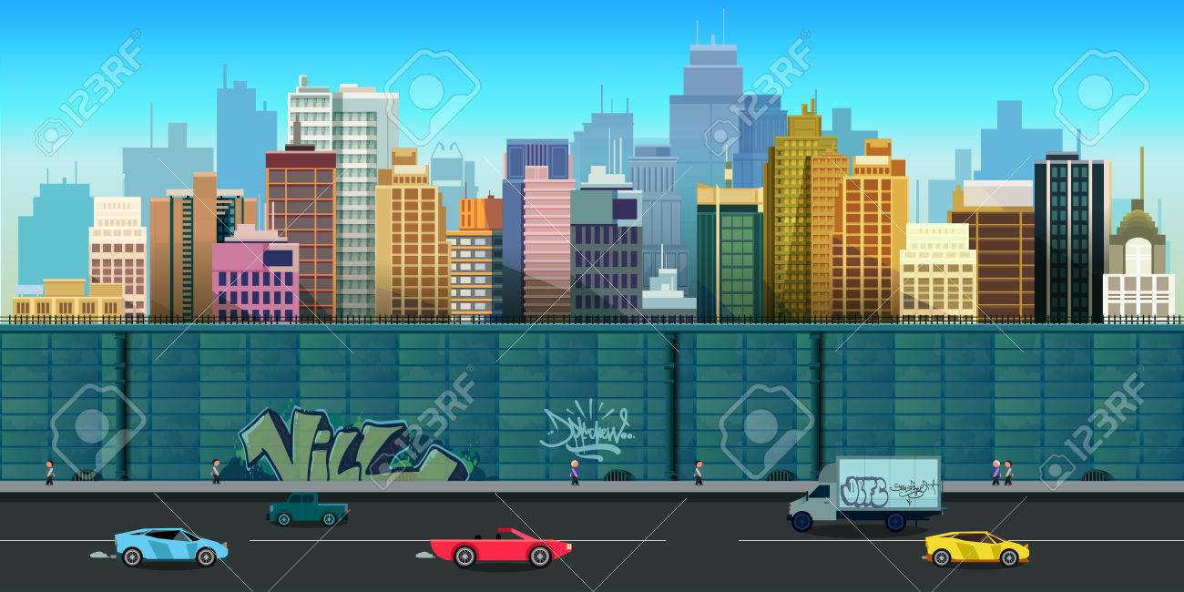 city game background 2d game application - 62999092