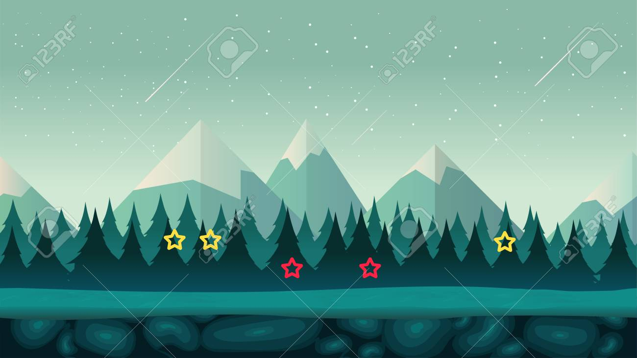 cartoon night game background seamless background for games