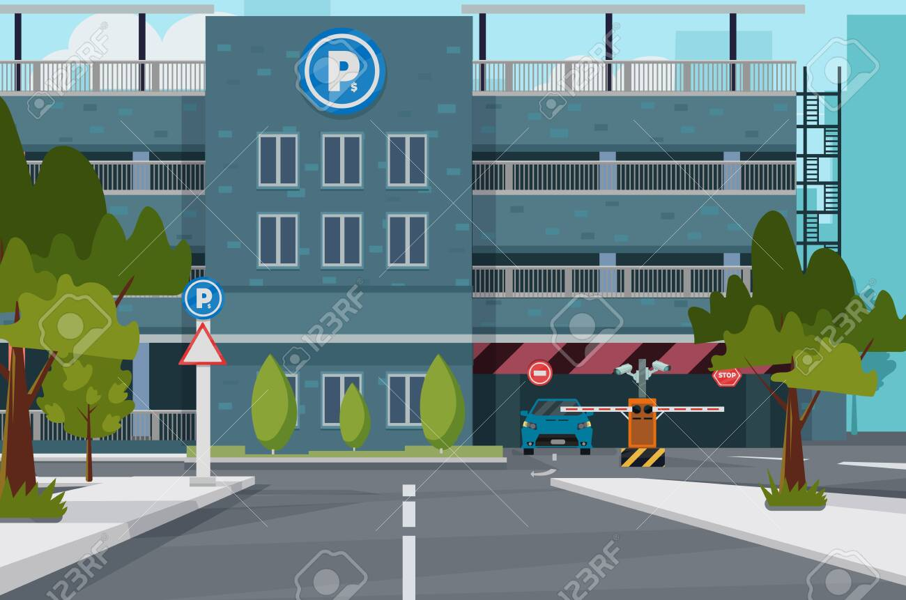 City parking place, vector illustration for you project - 135983857