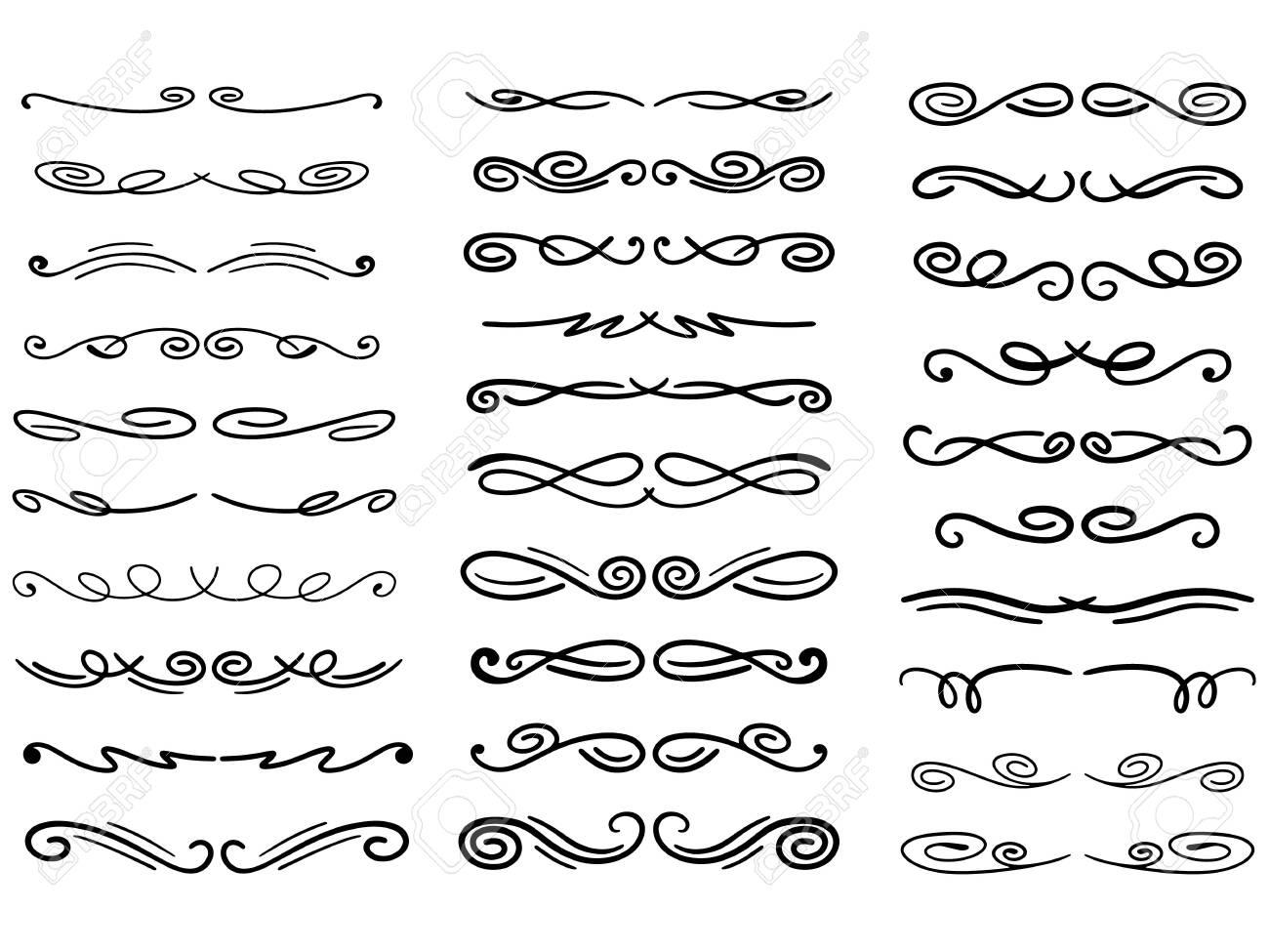 Set of vector decorative dividers - 147574928