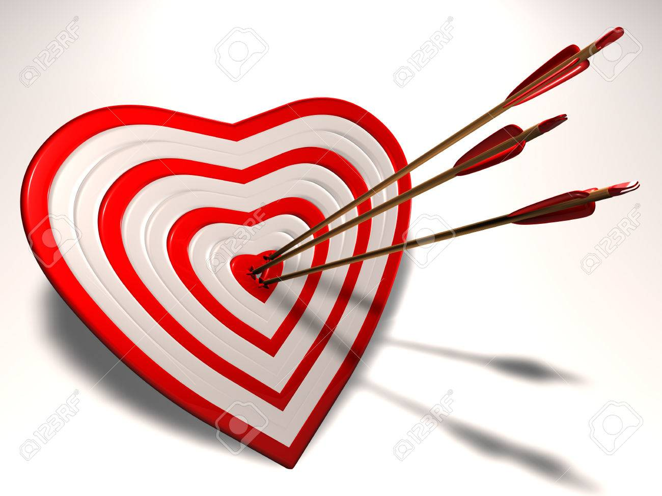Heart shaped target with cupid arrows in it stock photo picture heart shaped target with cupid arrows in it stock photo 25204393 thecheapjerseys Gallery