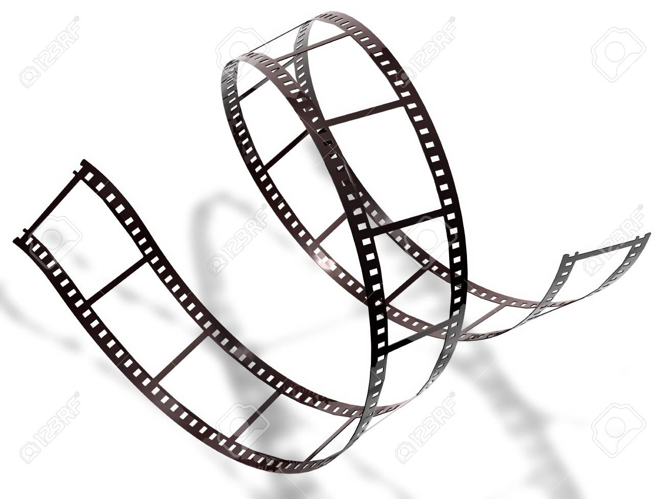 Filmstrip on white background, isolated - 31028084