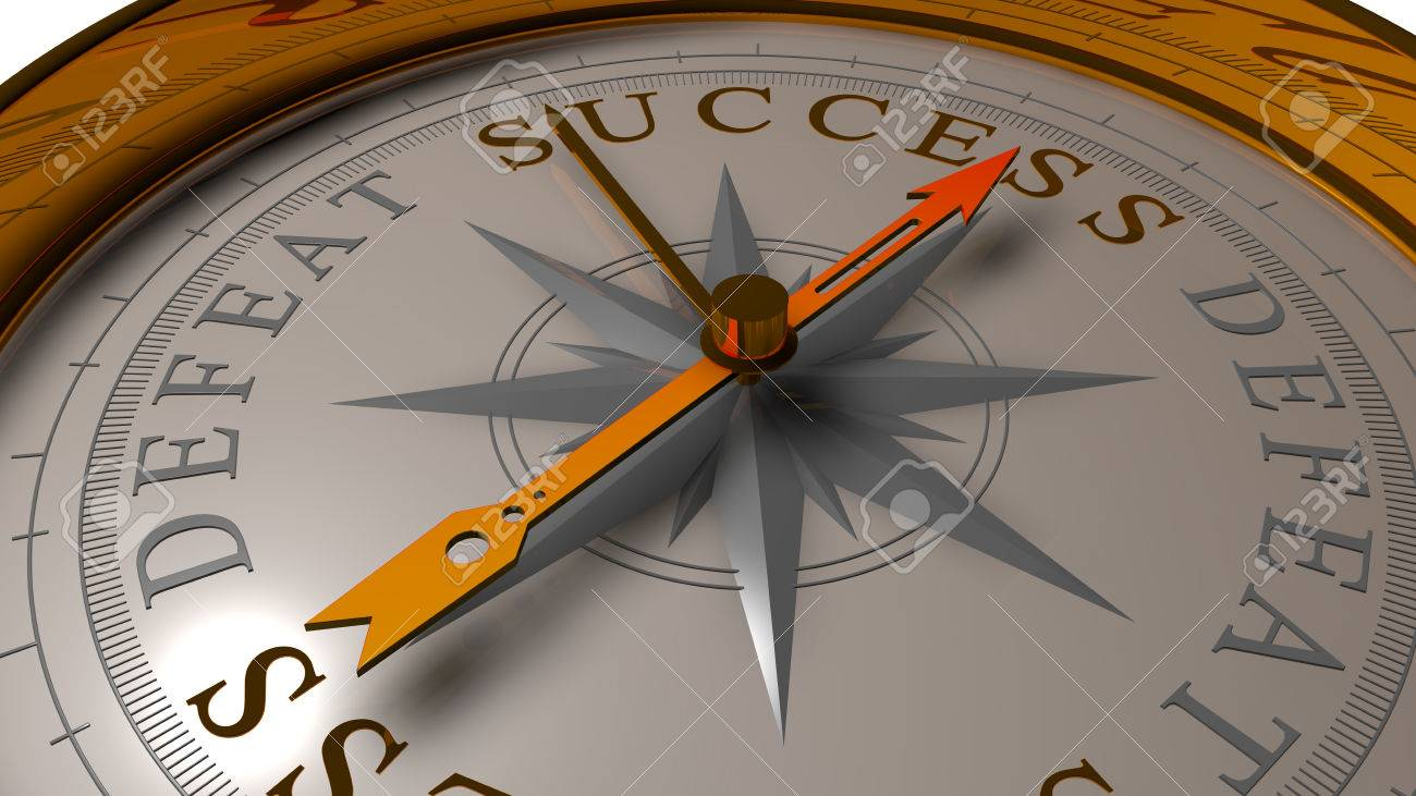 Success vs defeat concept. - 33882827