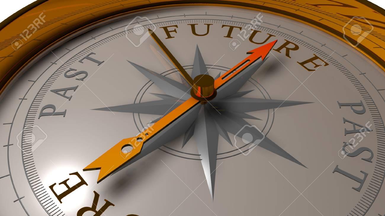 Future vs Past concept. - 33882831