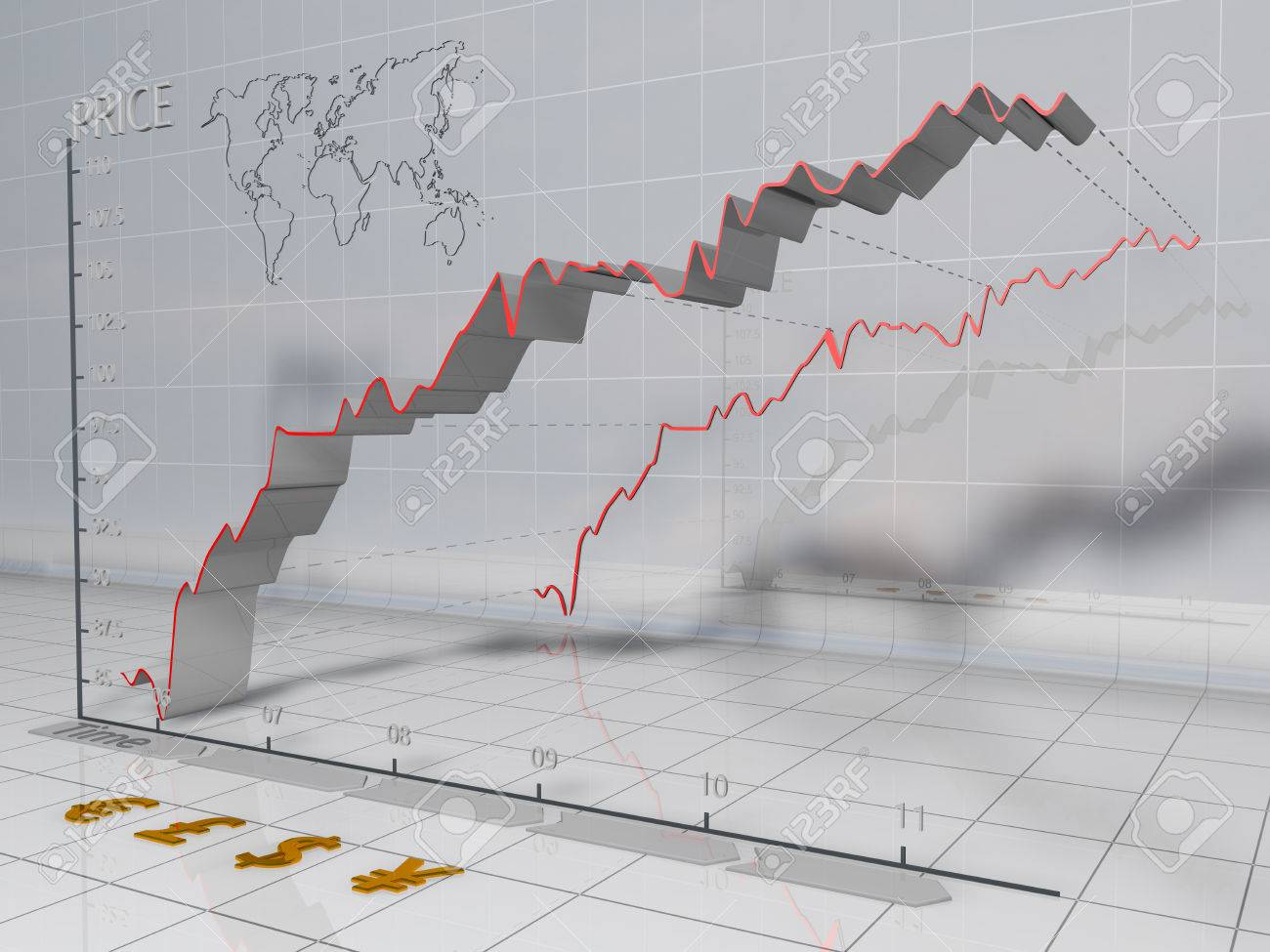 Bullish financial chart. - 33882916