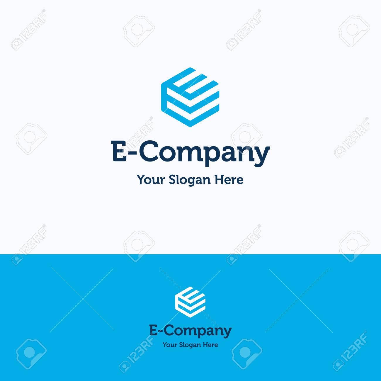 Leggere pubblico Stereotipo  Hexagon 3D Cube E Letter Logo Royalty Free Cliparts, Vectors, And ...