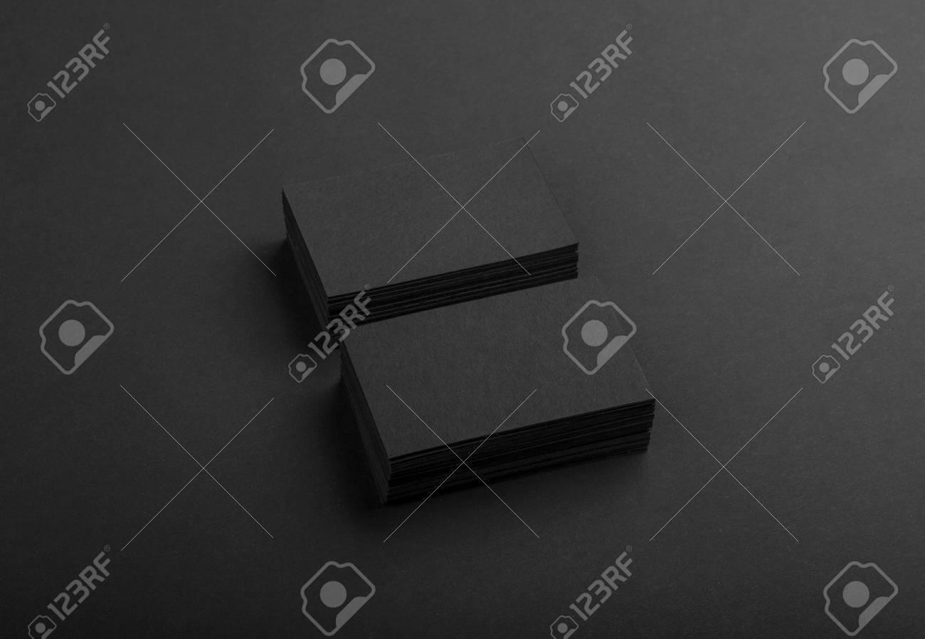 Photo De Cartes Visite Noires Modle Fonc Isol Sur Fond Noir