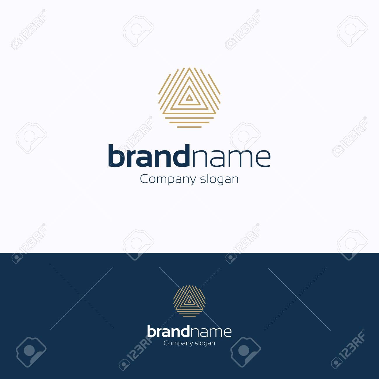 brand name logo logo fingerprints gold blue logotype symmetry
