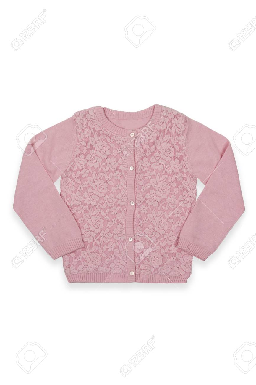 25be5cd32ec3 Children Sweater With Buttons Isolated On A White Stock Photo ...