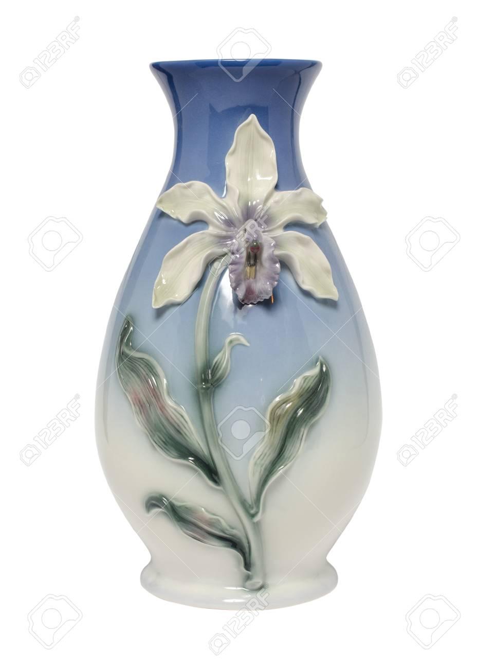Hohe Vase Isoliert Auf Weiß Lizenzfreie Fotos Bilder Und Stock