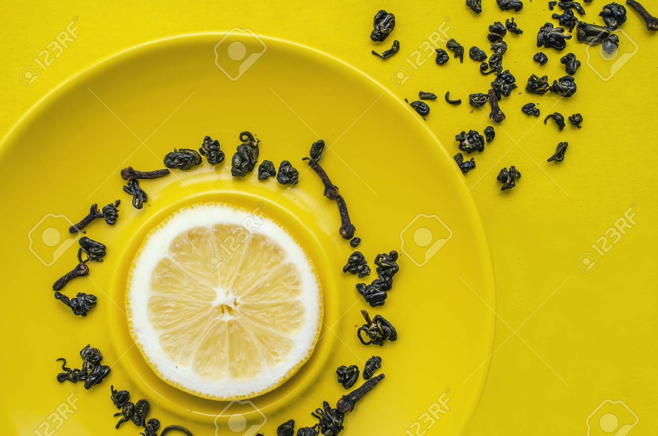 still life tea with lemon - 53773506