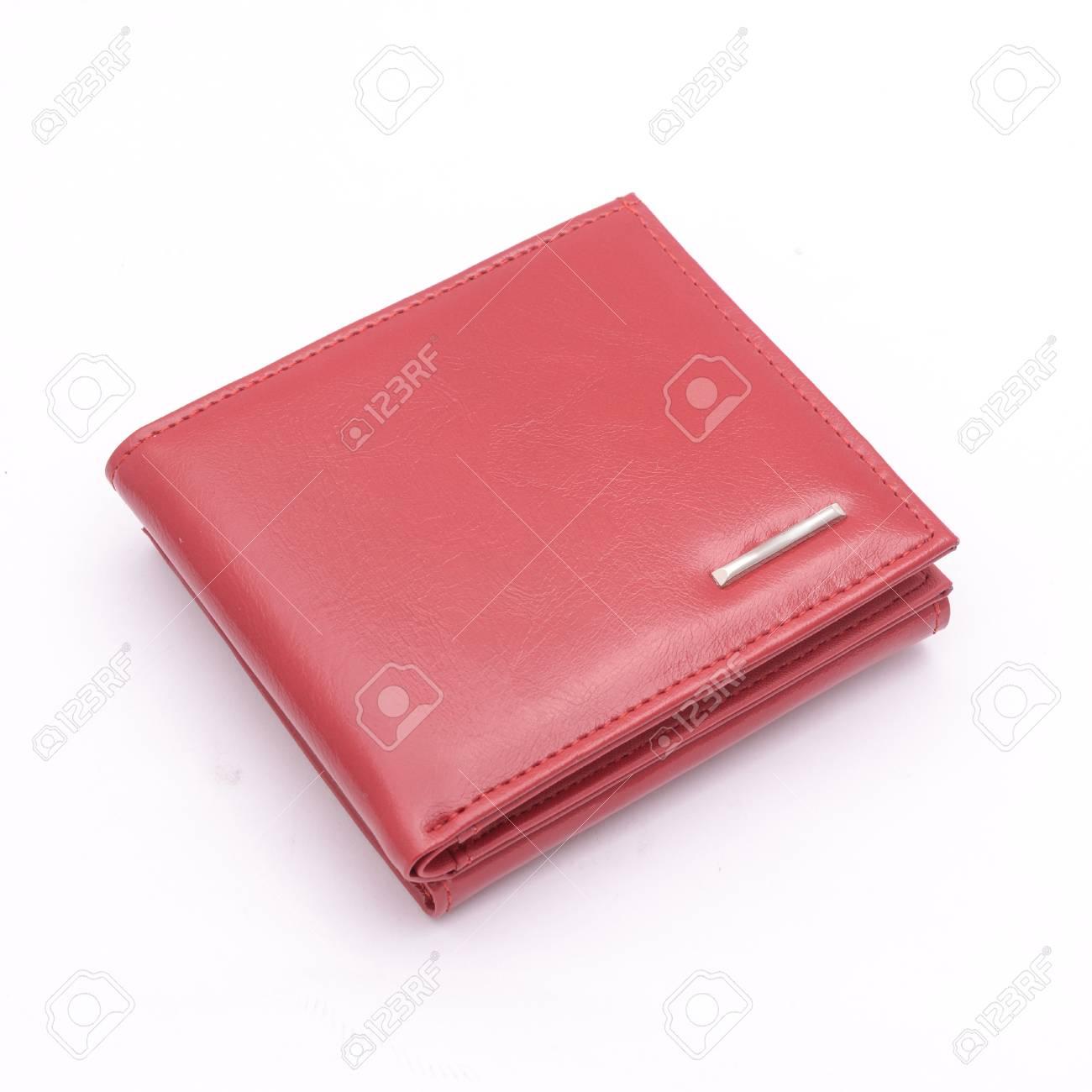 7d7685a8860 Rode Portemonnee Geïsoleerd Op Wit Royalty-Vrije Foto, Plaatjes ...
