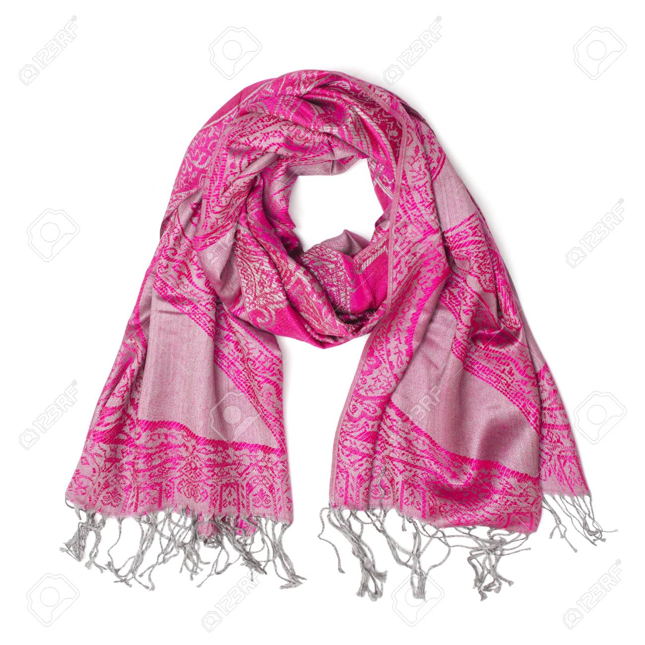 dc69708c6 Pink Women's Scarf Isolated On White Stock Photo, Picture And ...