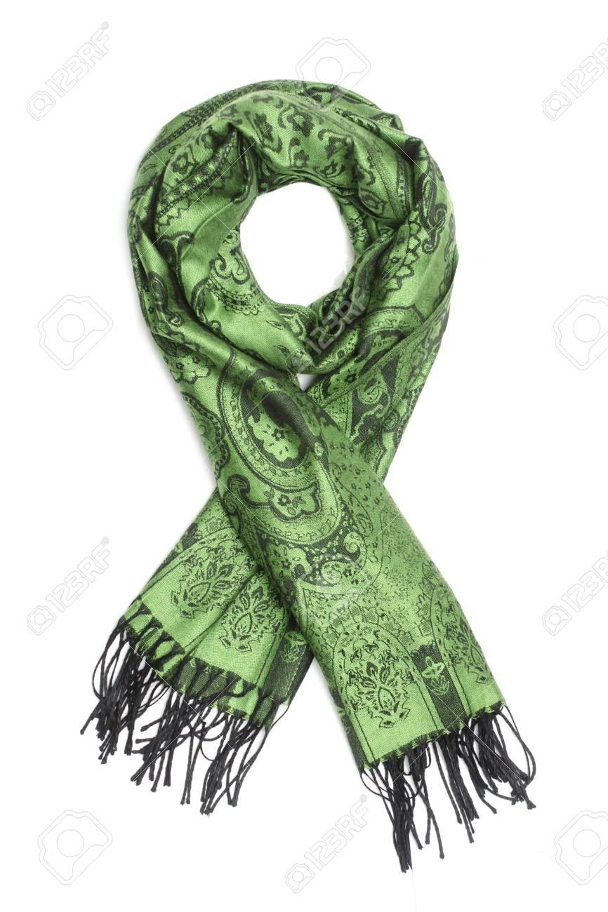 diseño atemporal 9f3ff 6ea67 Bufanda verde con el patrón negro aislado en blanco
