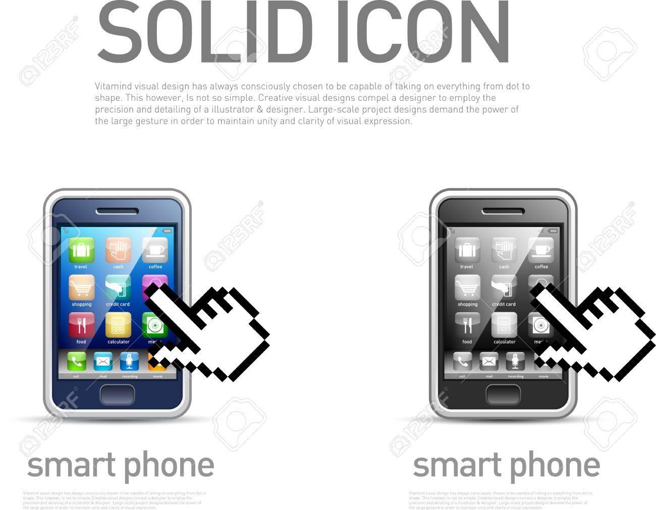 Smart phone icon Stock Vector - 20914065