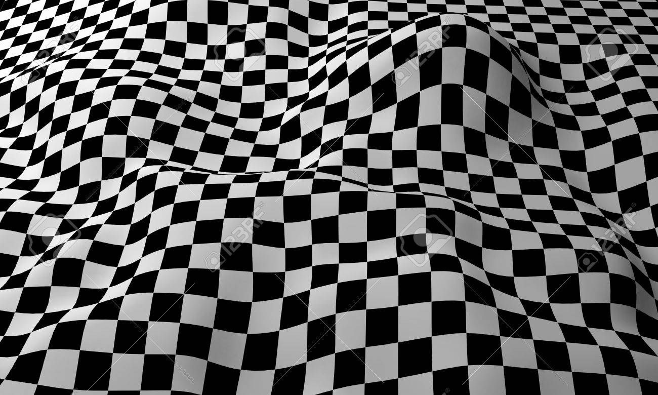 Checkered Design Four Tile Repeat Of A Wavy Seamless Checkered Pattern Stock Photo