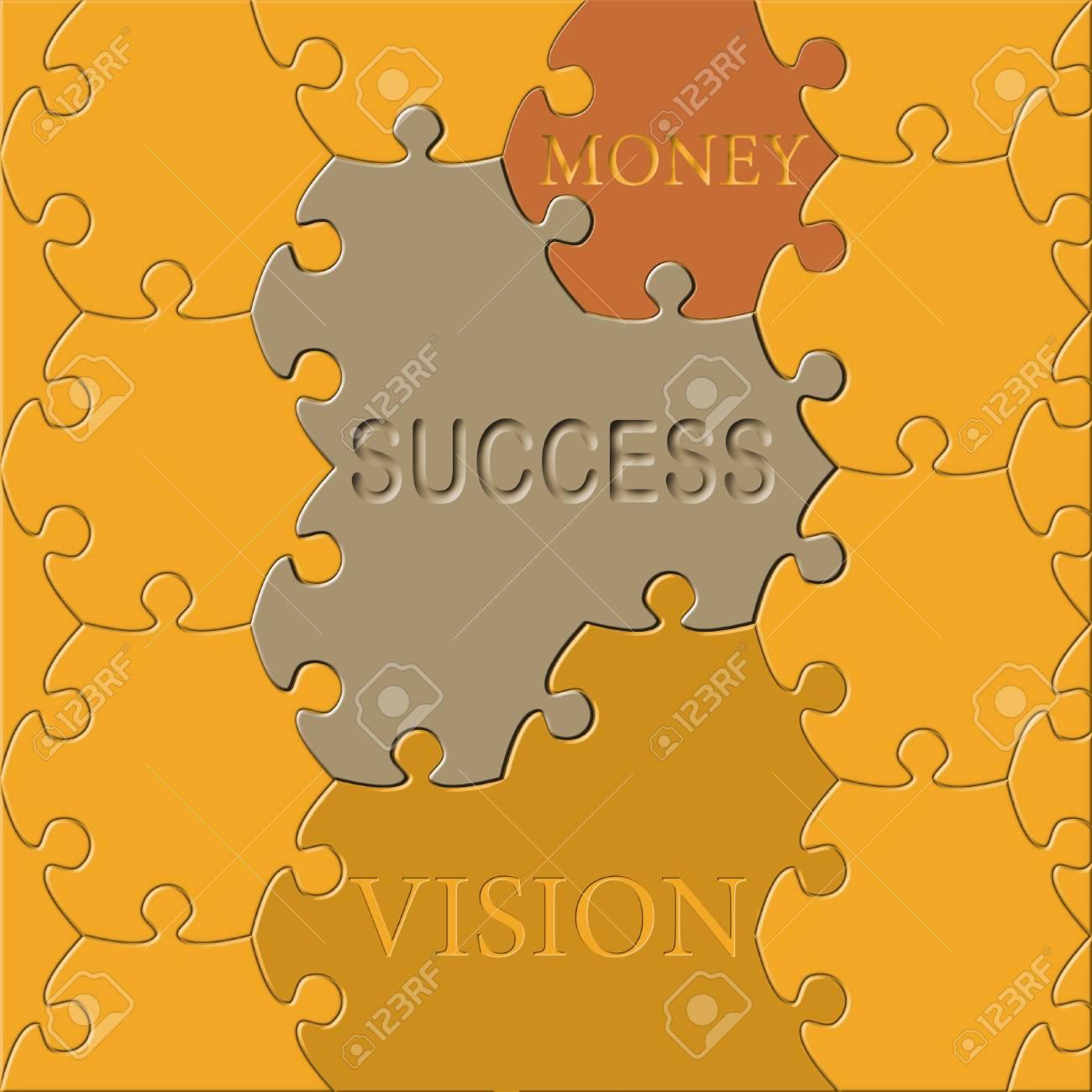 jigsaw puzzle success-money-vision Stock Photo - 19493443