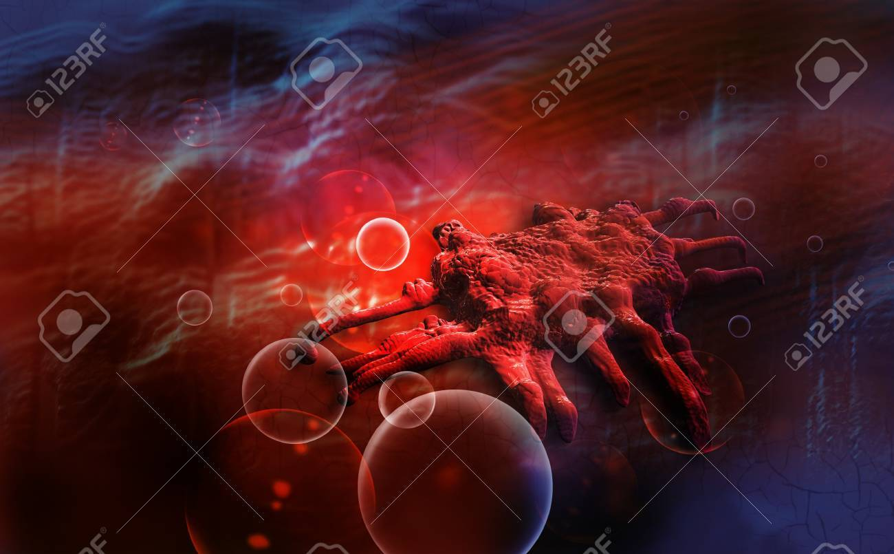 cancer cell of stomach   made in 3d software Stock Photo - 20095648