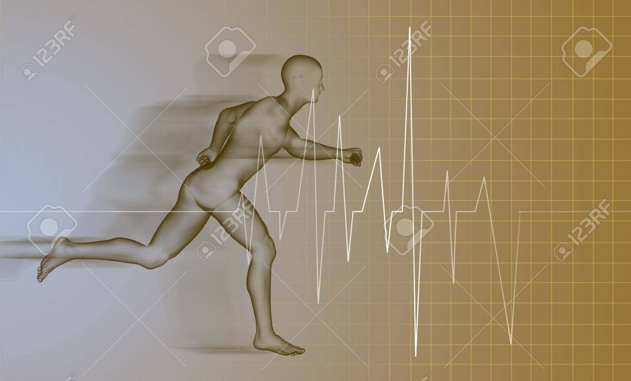 3d rendered anatomy illustration of a running man Stock Photo - 20281444