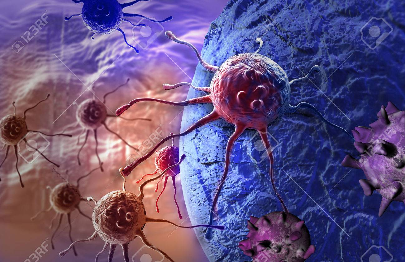 cancer cell made in 3d software Stock Photo - 25554729