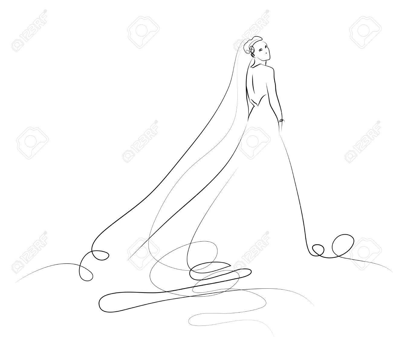 Robe De Belle Jeune En Croquis Blanche Mariée 8vNwm0n