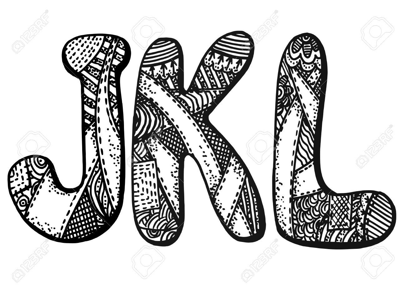 Alphabet Artistique vector graphique, artistique, image stylisée de lettres de l