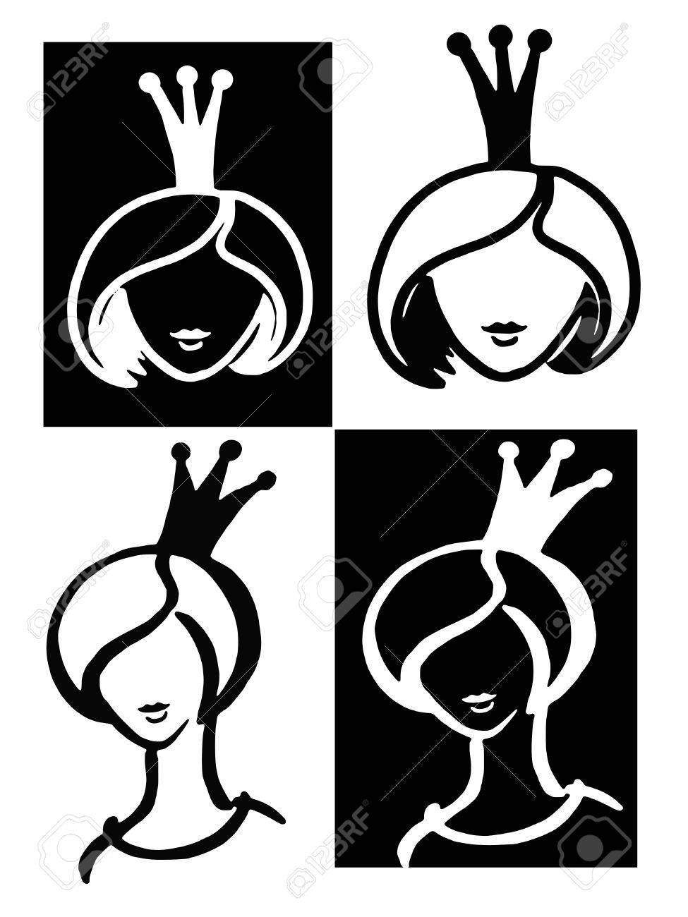 Hand Drawn Cartoon Sketch Illustration Of Princess Beauty Royalty Free Cliparts Vectors And Stock Illustration Image 27357581