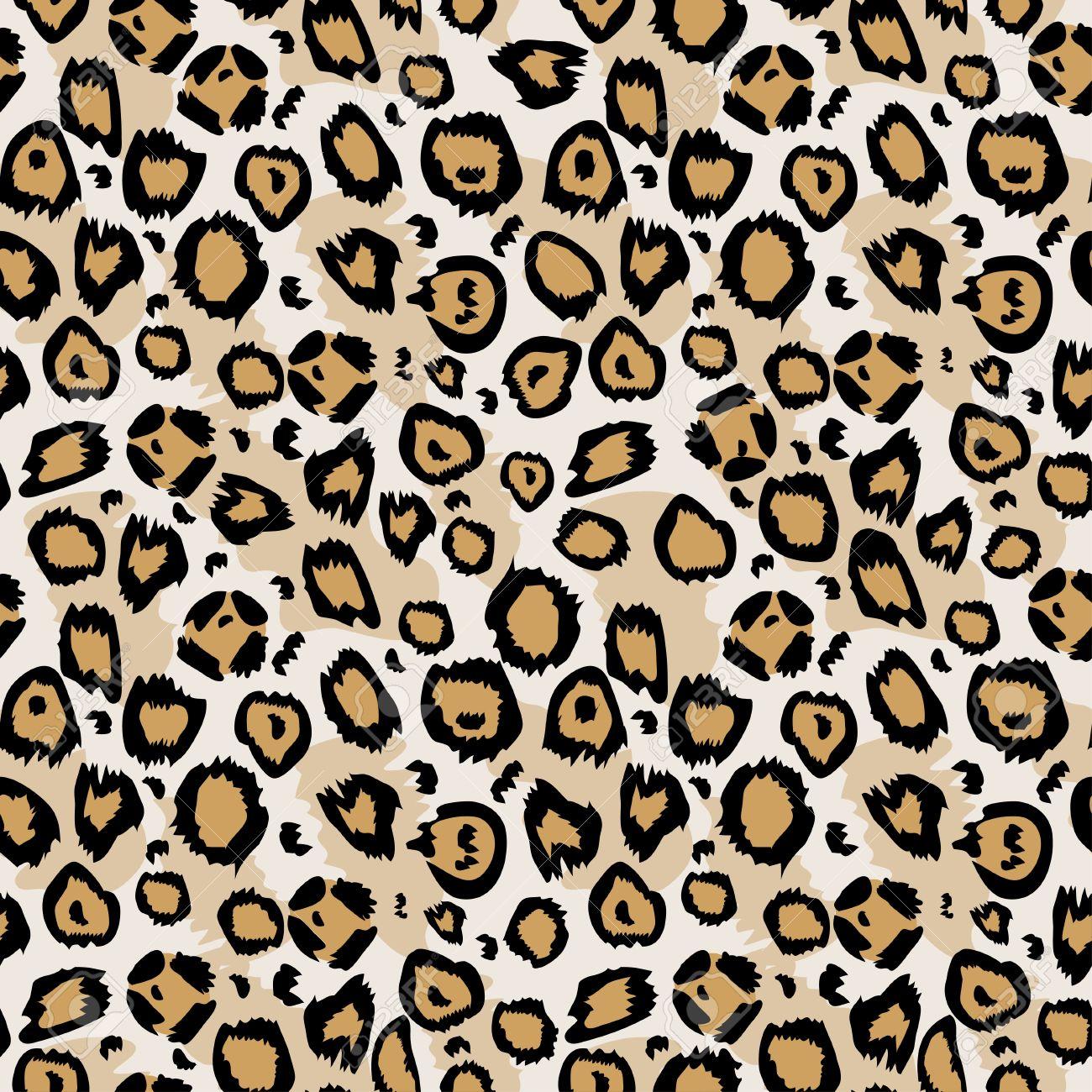 Vector Seamless Pattern Design Animal Print Pattern Texture