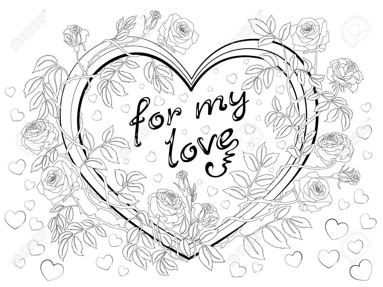 Corazones Dibujados A Mano Con Una Inscripción Para Mi Amor En