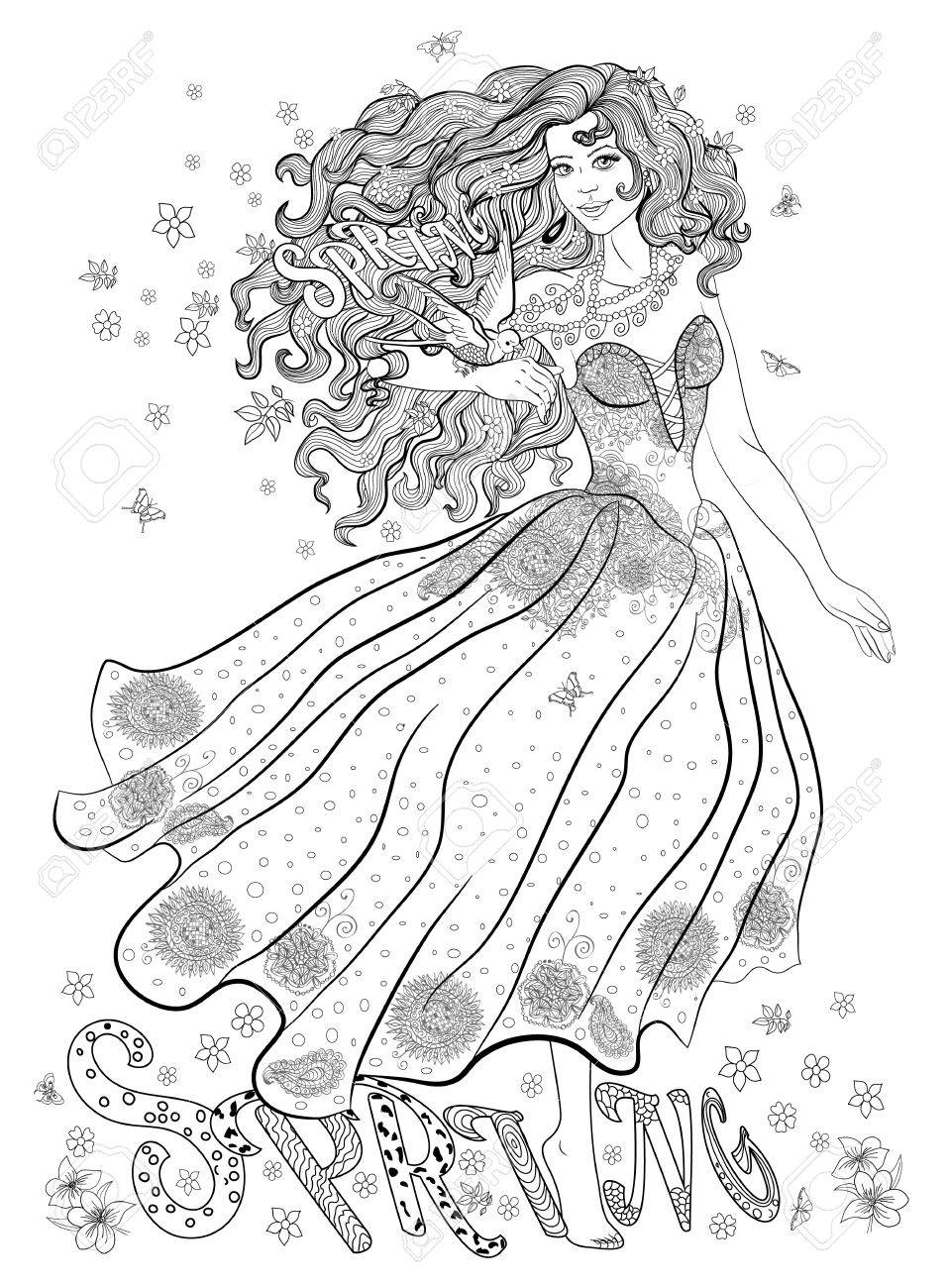 Free Free Printable Spring | Coloring Pages For Adults, Download ... | 1300x957