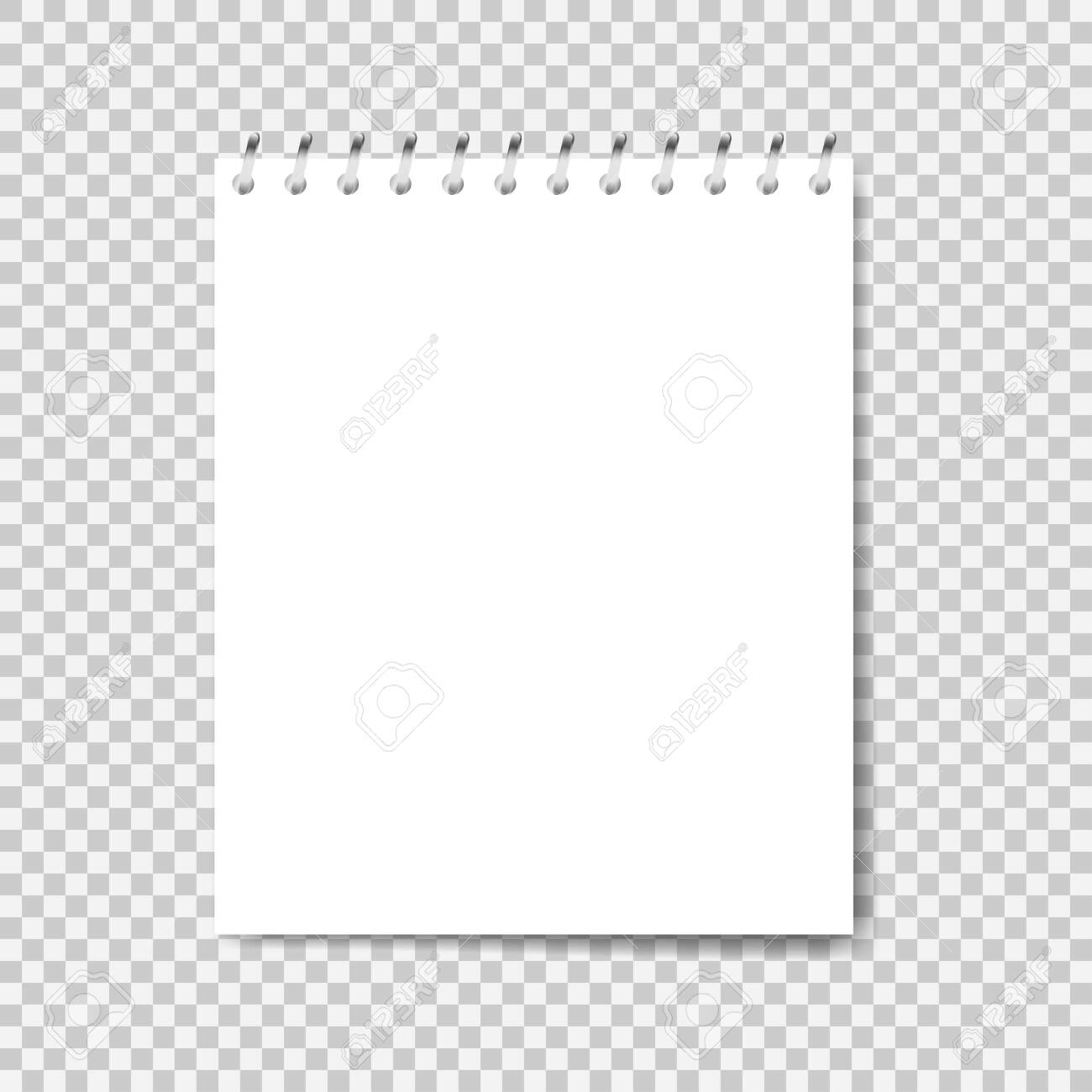 Notebook mockup. Note with spiral. Notebook realistic style. Notepad empty paper. Vector illustration - 146179344