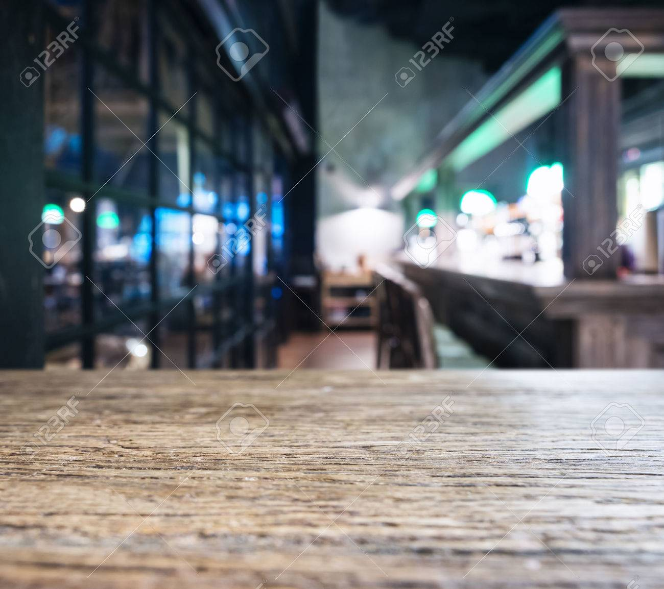 Table Top Counter With Blurred Bar Restaurant Background Stock Photo Picture And Royalty Free Image Image 55875475