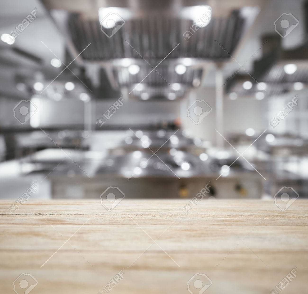 Table top Counter with Blurred Kitchen Background - 59492183