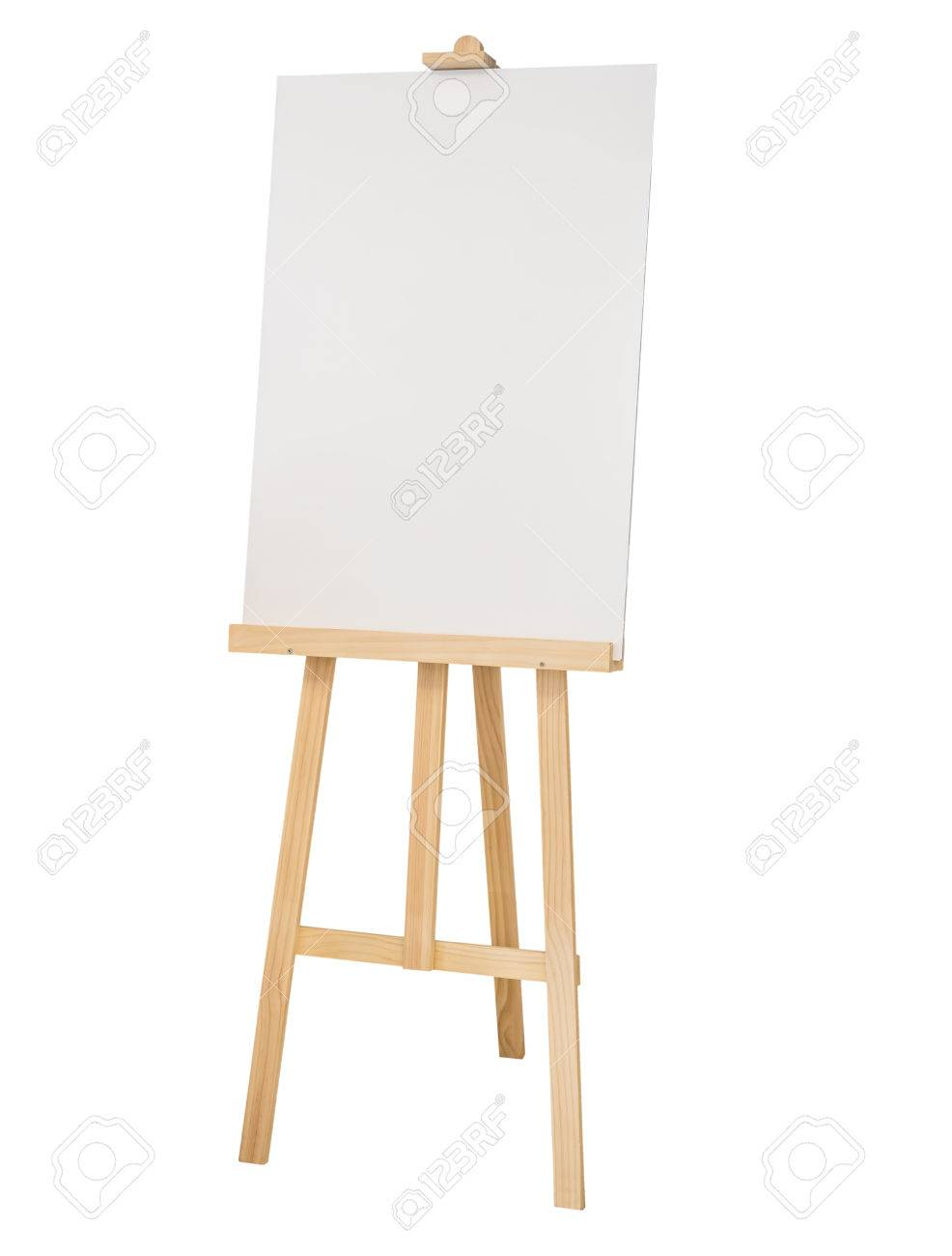 painting stand wooden easel with blank canvas poster sign board