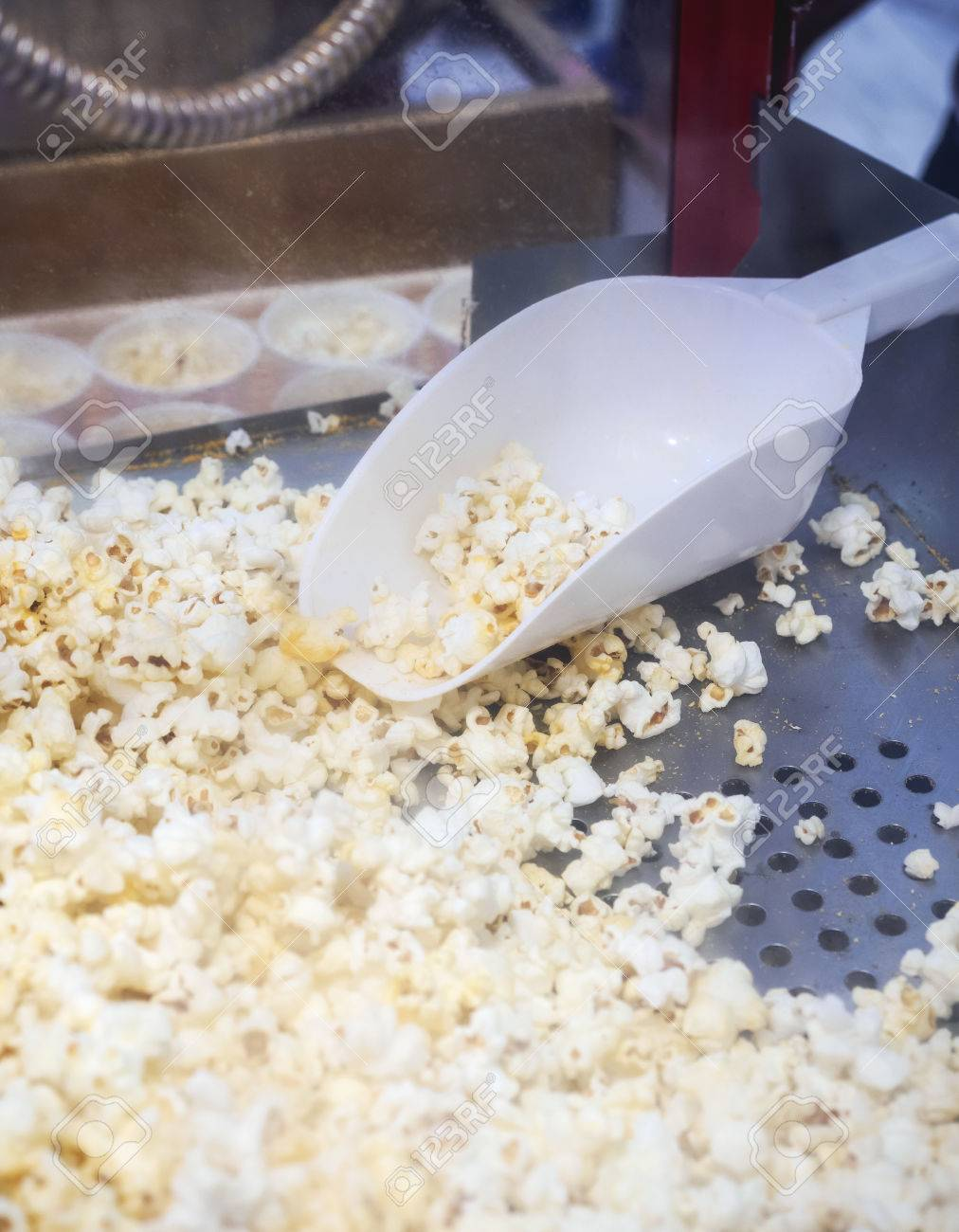 pop corn with spoon popcorn machine for sell event festival stock photo - Popcorn Machine For Sale
