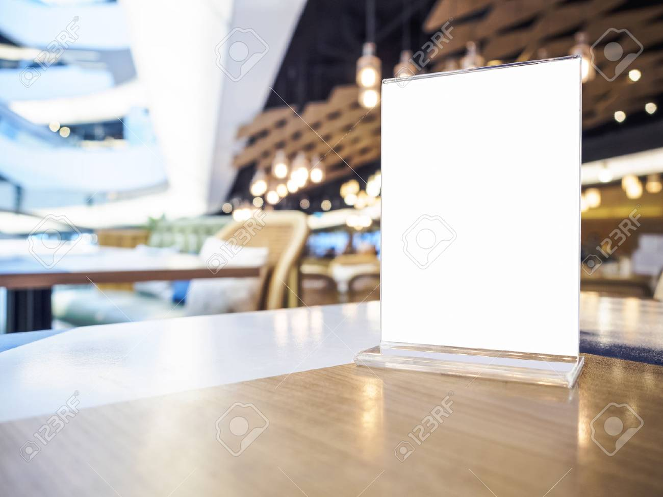 Mock Up Menu On Table Bar Restaurant Cafe Event Party Lighting Stock Photo Picture And Royalty Free Image Image 71440042