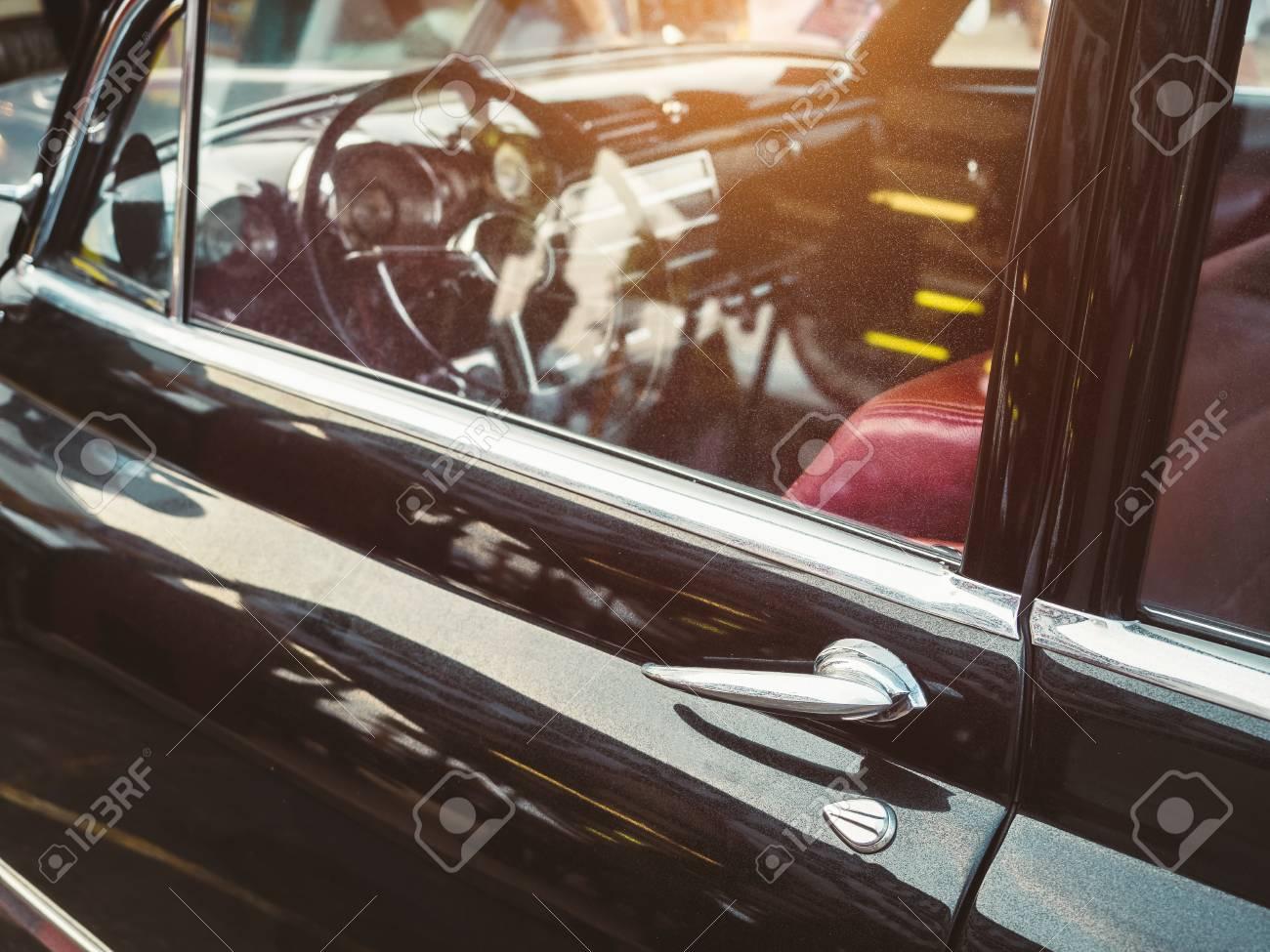 banque dimages poigne de porte de style rtro de voitures anciennes voiture classique tableau de bord