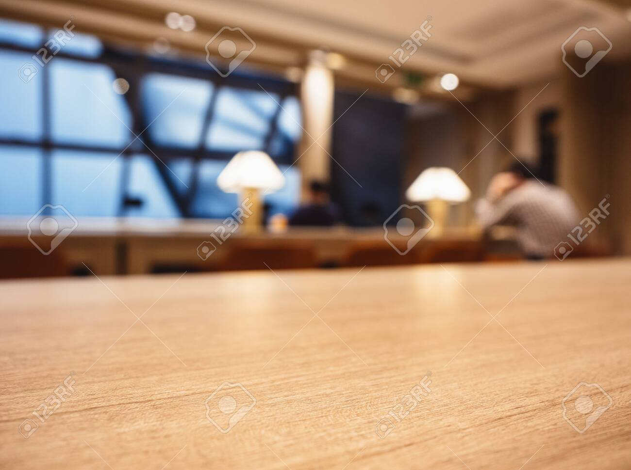 Table top Counter Blur Bar cafe Lounge Interior background - 126192660