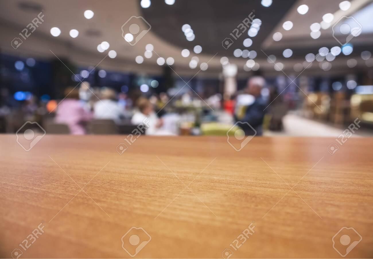Table Top Wooden Counter Blur Interior Shop Cafe Restaurant With People Sitting Background Fotos Retratos Imagenes Y Fotografia De Archivo Libres De Derecho Image 146031504
