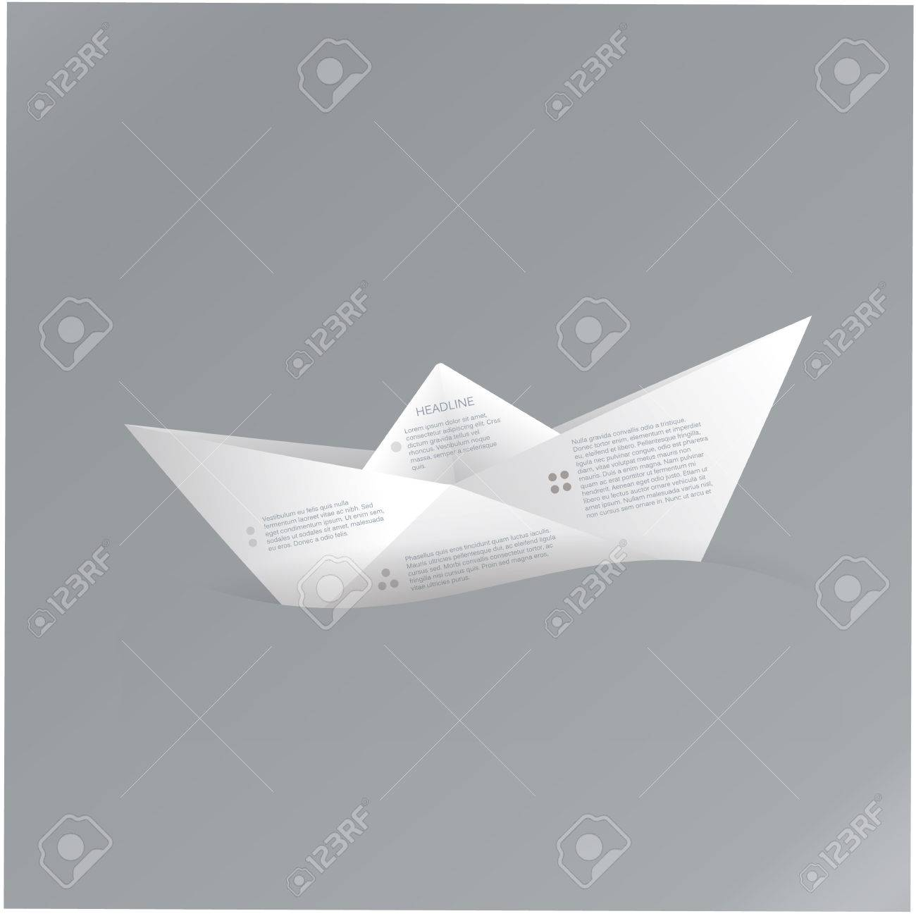 Vector paper origami boat paper sign with space for text about vector paper origami boat paper sign with space for text about your company four points jeuxipadfo Gallery