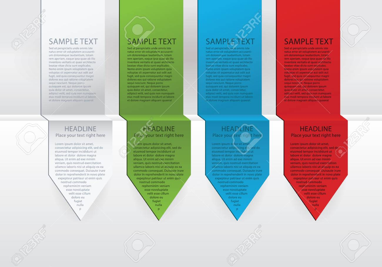 Modern vector colorfully arrows. Paper, green, blue and red version. Space for your content. Modern design template. Stock Vector - 24475038