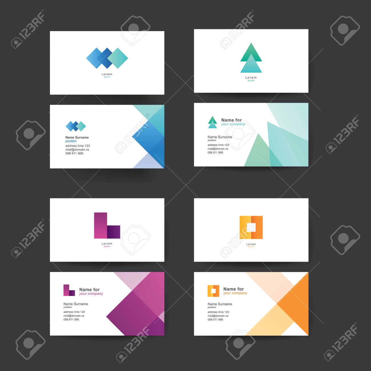 Vector abstract business cards colorful templates for business vector vector abstract business cards colorful templates for business cards editable vector graphic pack of four reheart Gallery