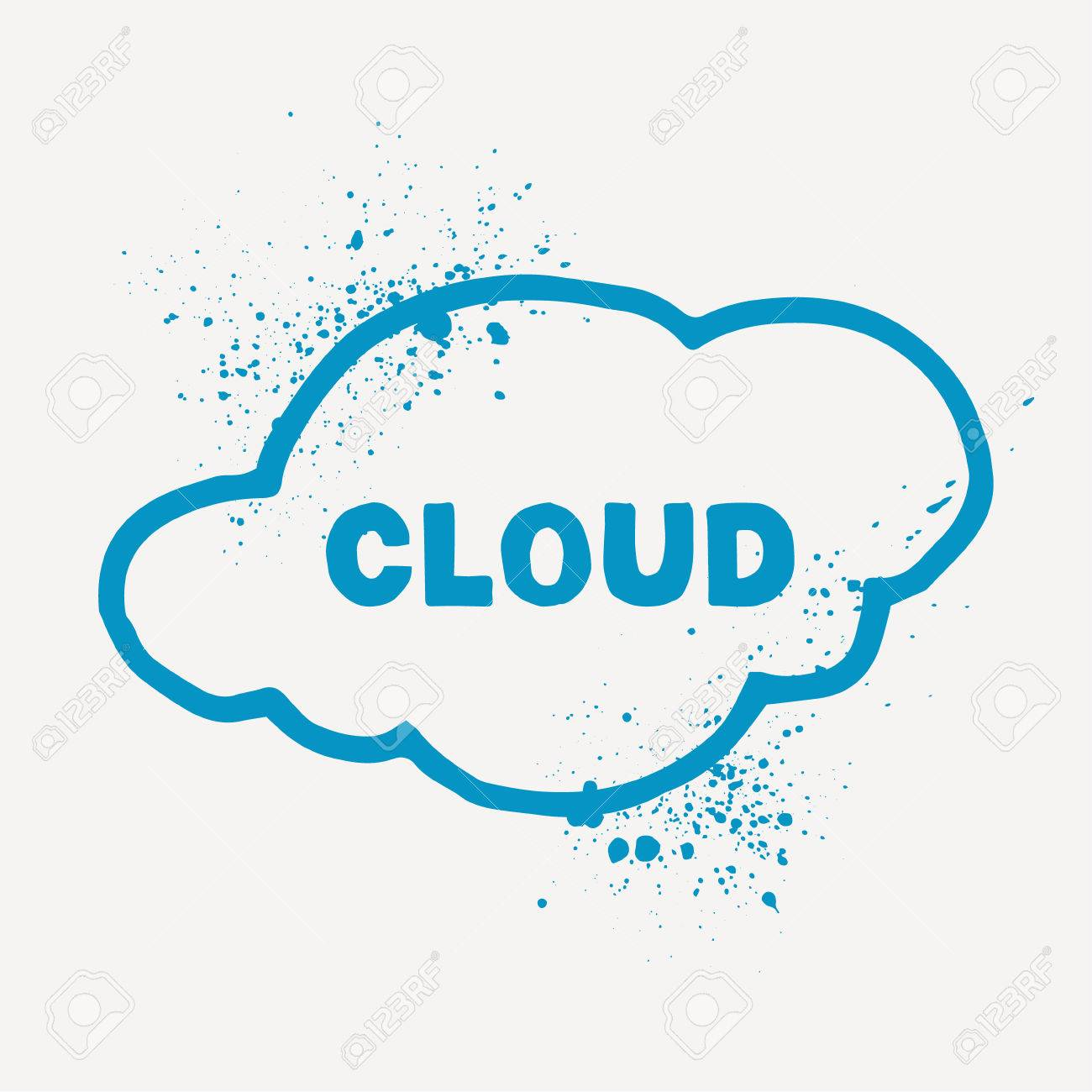 Outline aquarelle cloud symbol with splashes perfect as cloud outline aquarelle cloud symbol with splashes perfect as cloud storage or weather forecast symbol biocorpaavc Gallery