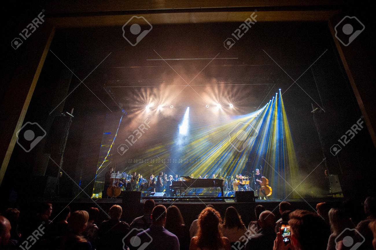 Kharkiv, Ukraine - May 21, 2019: Svyatoslav Vakarchuk with orchestra - 137983778