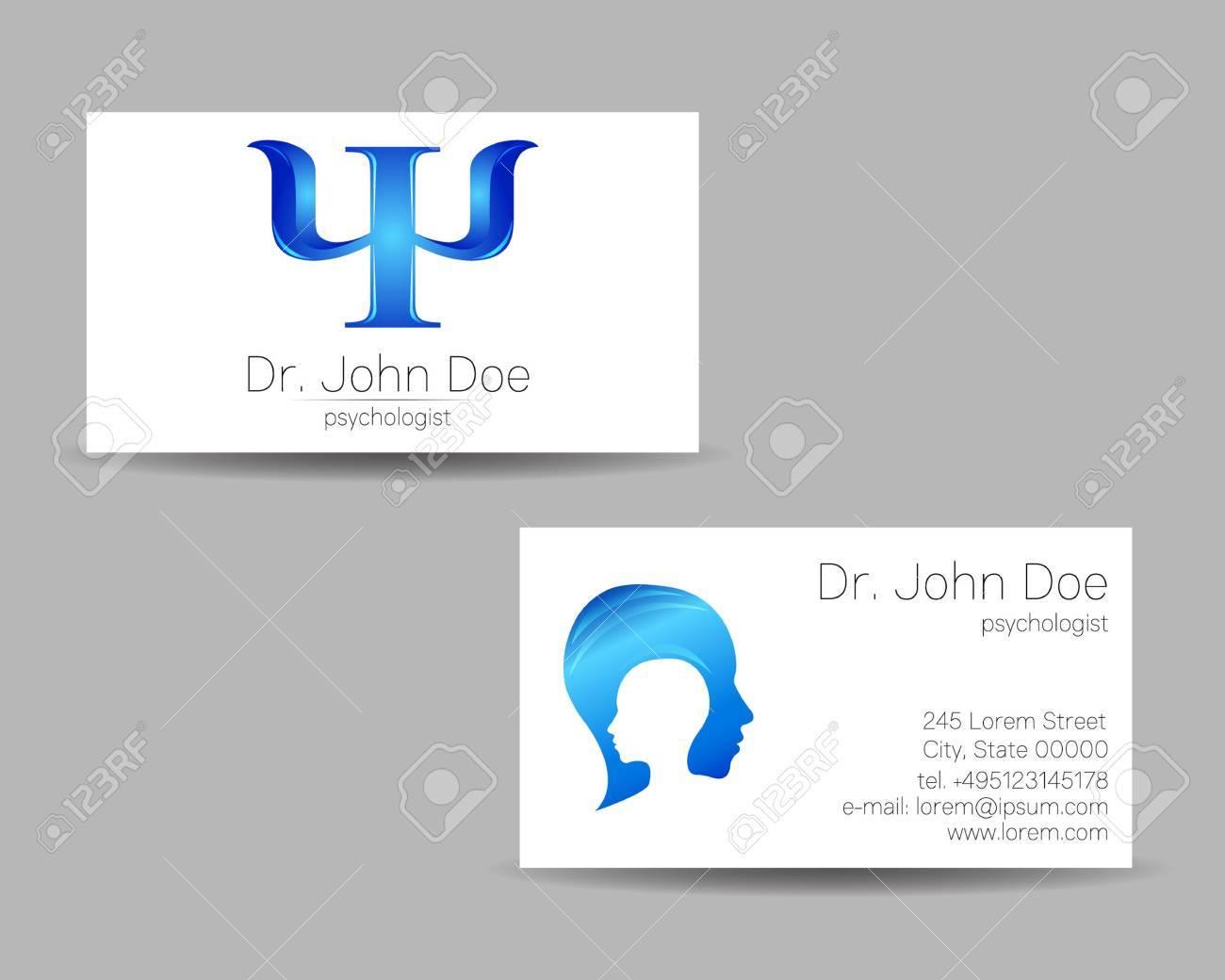 Carte De Visite En Psychologie Icone Moderne Style Creatif Concept Design Banque