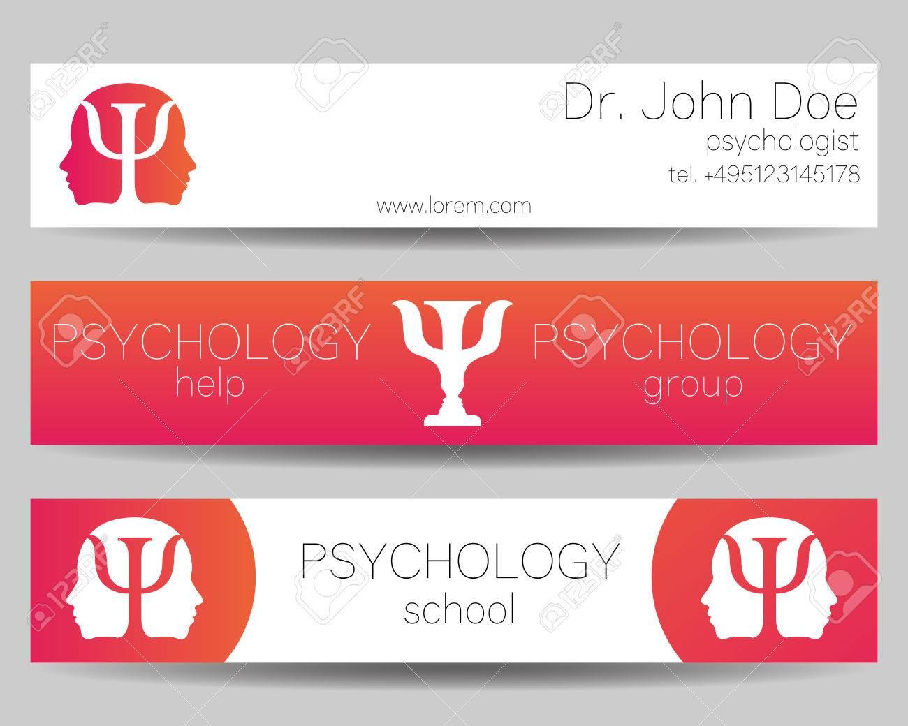 psychology vector web banner design background or header templates