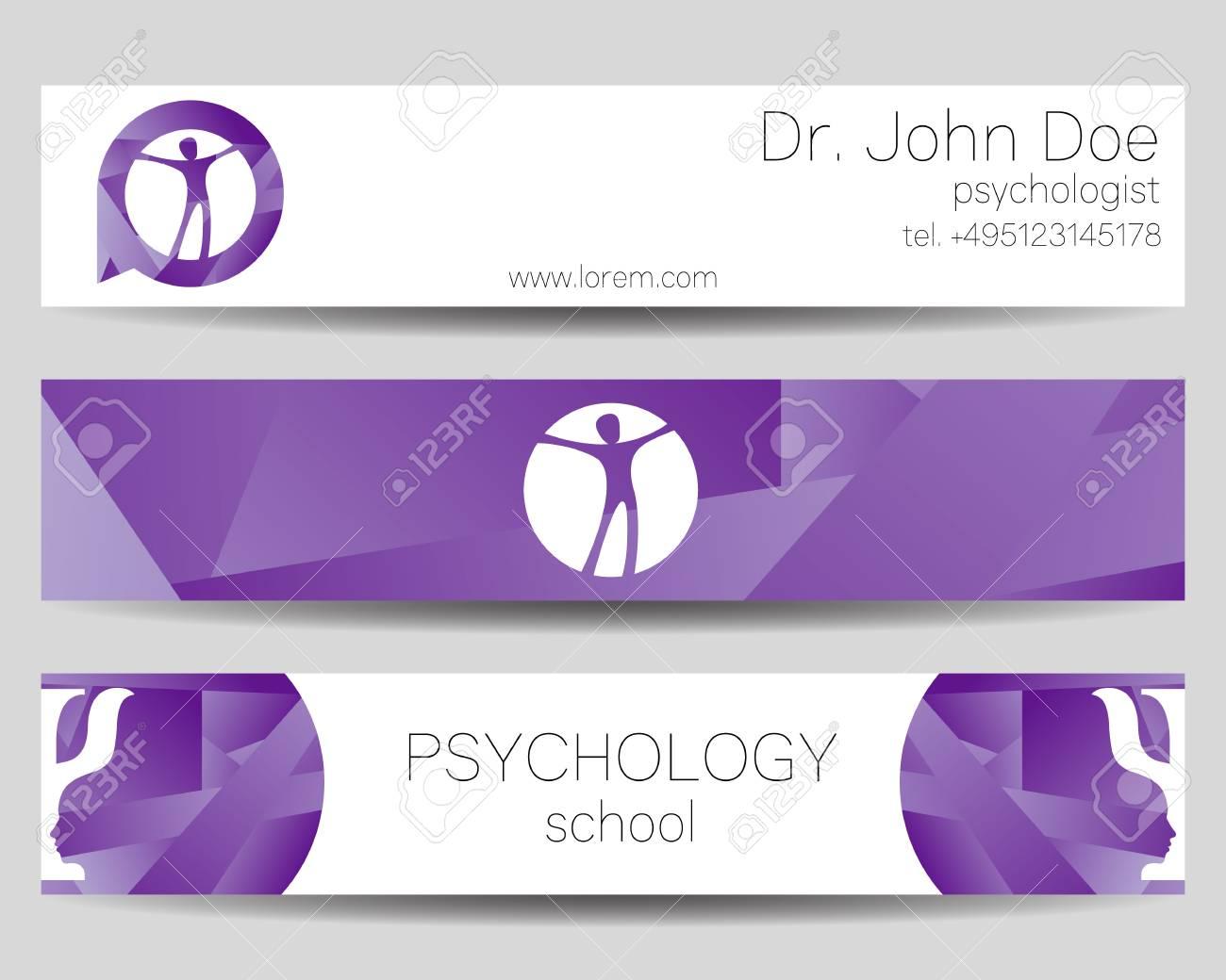 a vector psychology web banner design background or header templates