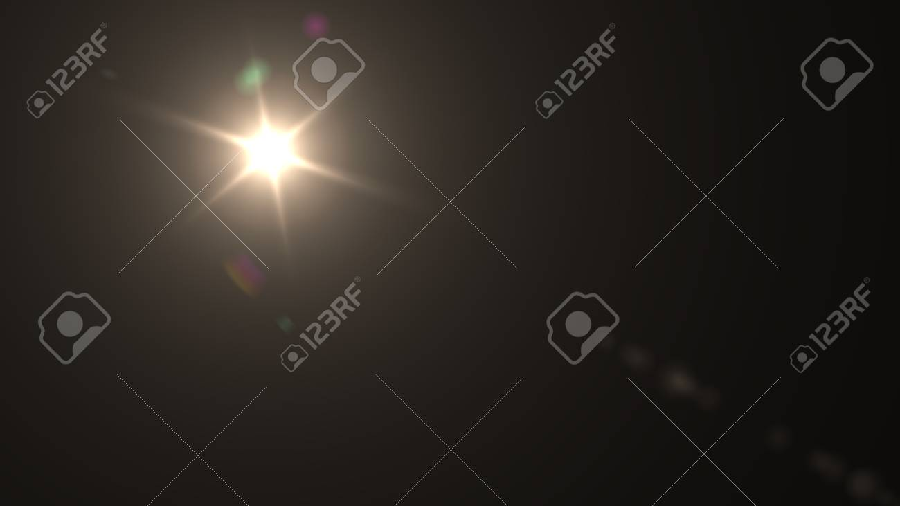 Beautiful light flares. Glowing streaks on dark background. luminous background - 76526099